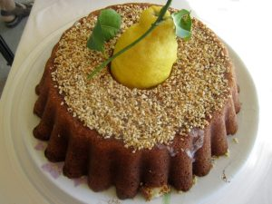 This is Mamma Agata's famous lemon cake, which we were forced (begged) to have 2 slices each.