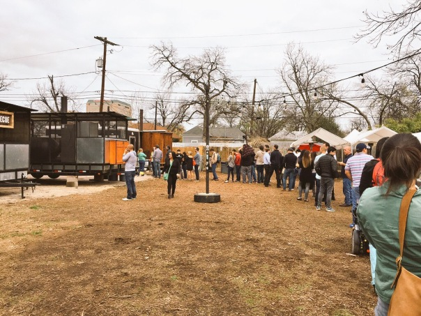 Your average line for BBQ in Austin